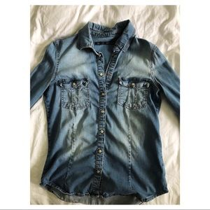 ZARA DENIM BUTTON UP